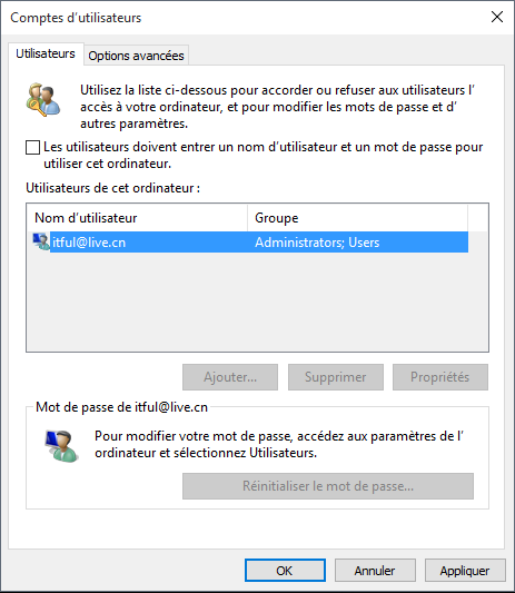 Login automatique pour Windows 10 sans mot de passe