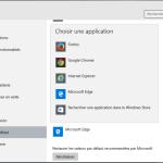 Comment Définir Firefox/Chrome comme le navigateur par défaut dans Windows 10