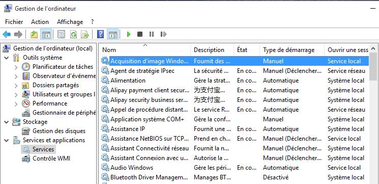 Windows 10 Services