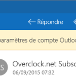 Vos paramètres de compte Outlook sont obsolètes – Notification de l'application de courrier dans Windows 10