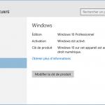 Comment activer Windows 10 avec une clé de produit de Windows 7 ou 8
