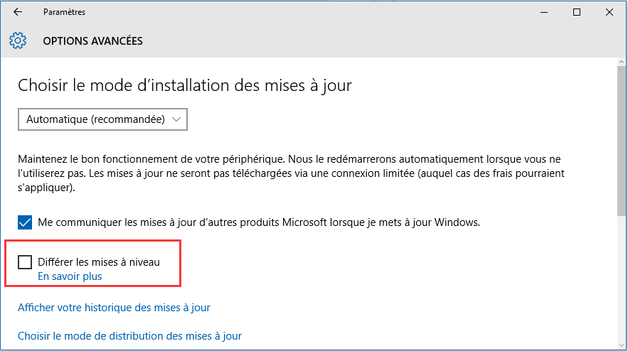 Windows 10 Mise à jour 1511