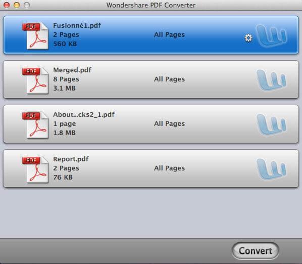 Wondershare PDF Converter pour Mac