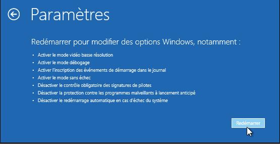Windows 10 en mode sans échec