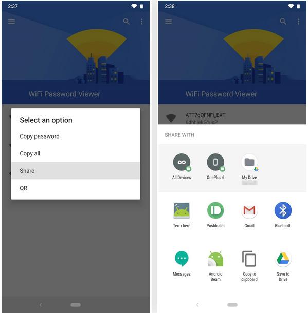 trouver le mot de passe du Wi-Fi sous Android