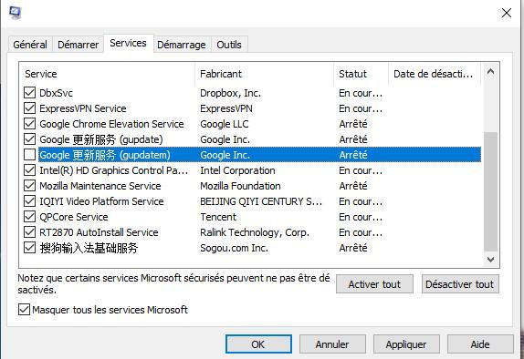 Effectuer un démarrage minimal sur Windows